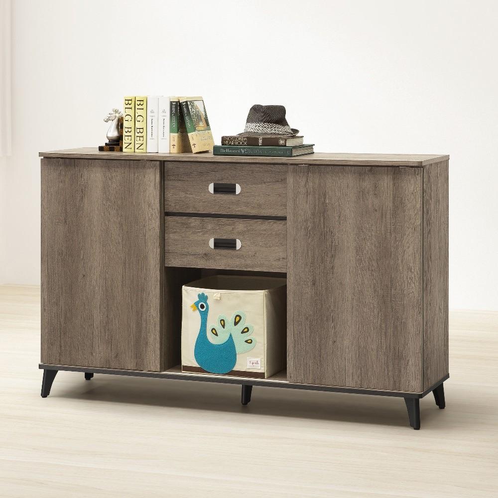 莫可灰橡色5尺置物收納櫃
