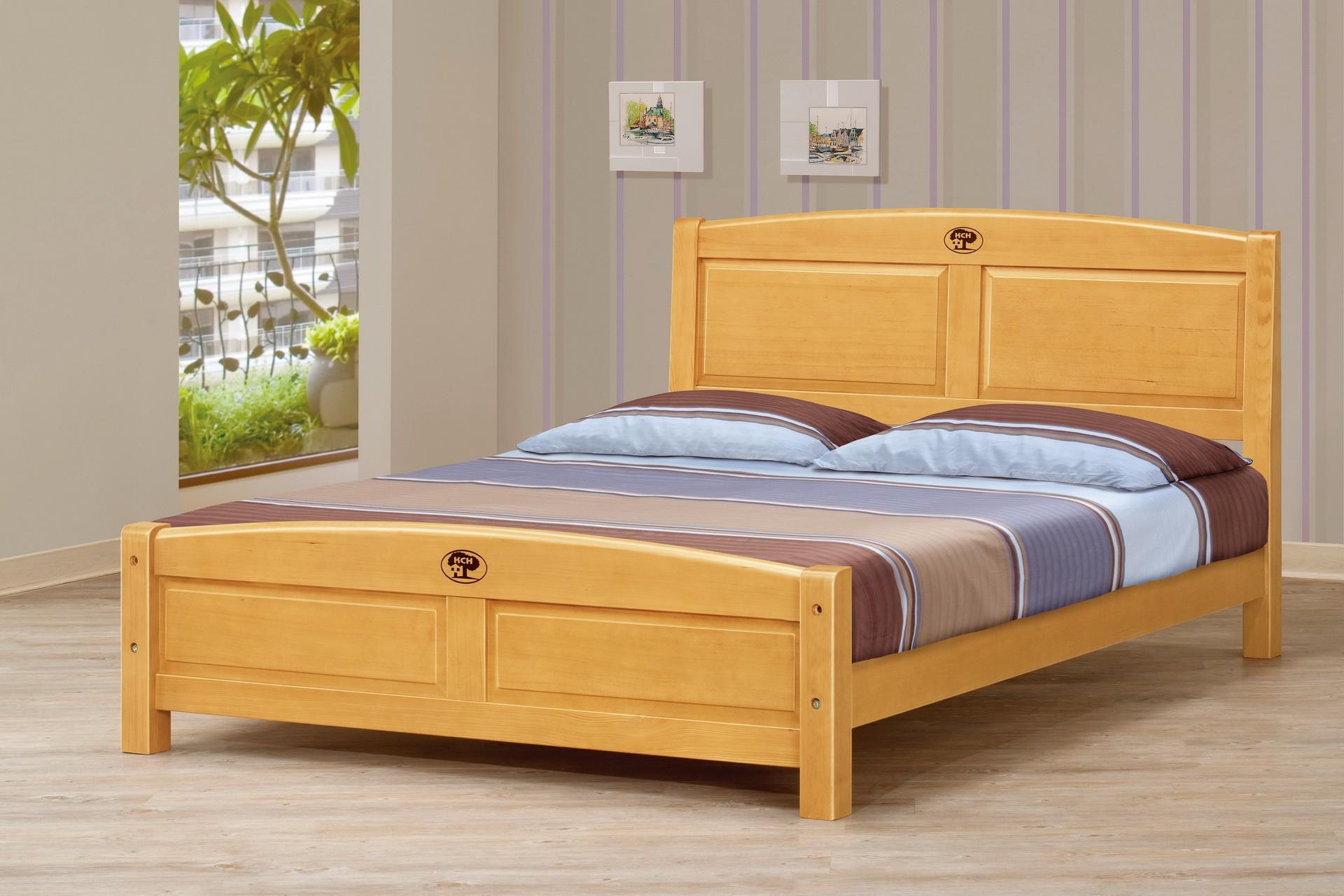 5尺檜木雙人床