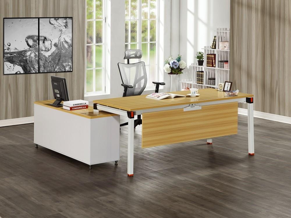 曼特爾6尺辦公桌組(含側櫃)