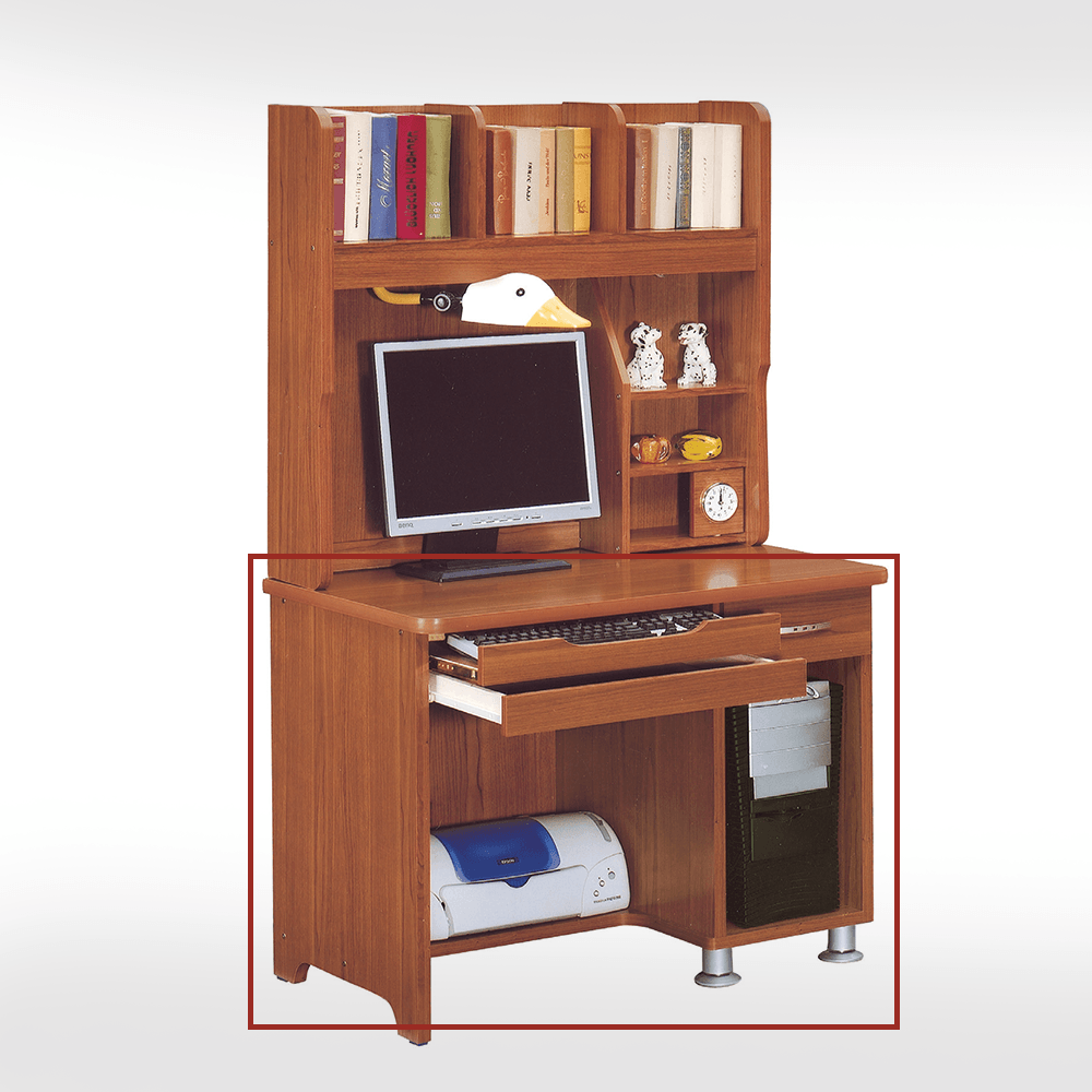 3尺柚木色電腦桌下座