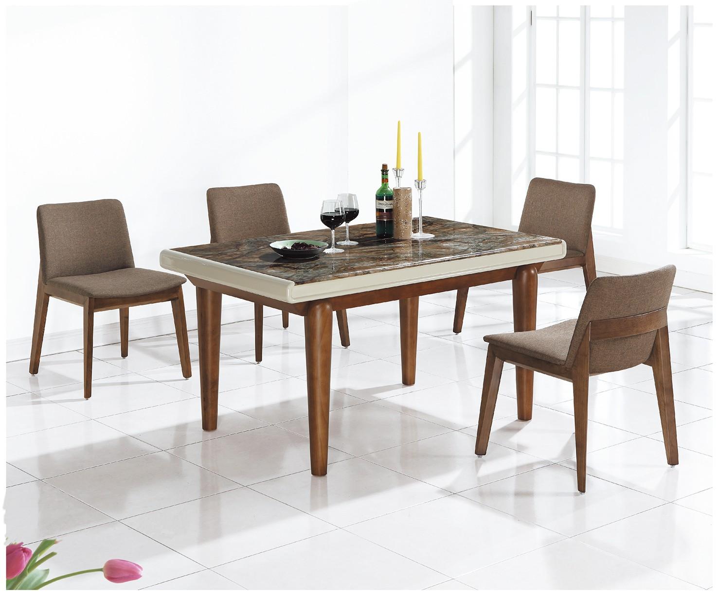 (H1502)4.6尺餐桌椅(1桌4椅)