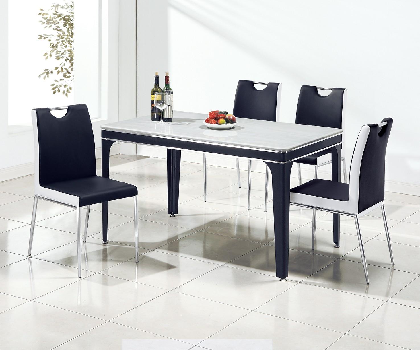 (A85)4.3尺人造石餐桌椅(1桌4椅)
