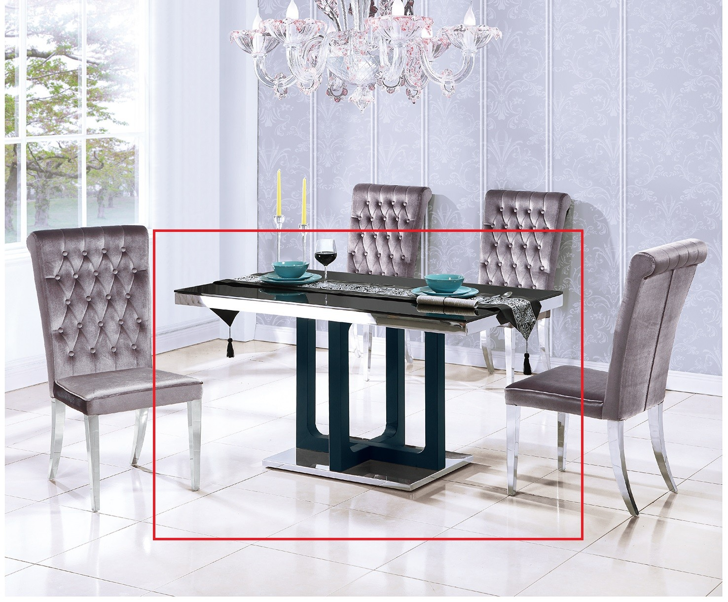 (T070)4.6尺白鐵餐桌