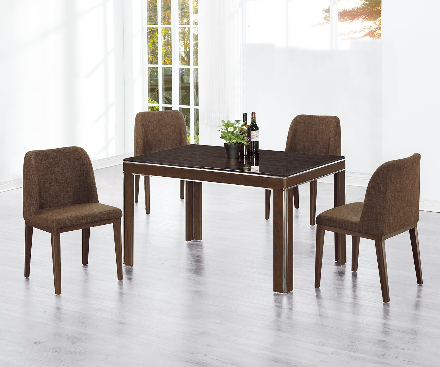 (C220-1)4.3尺餐桌椅(1桌4椅)