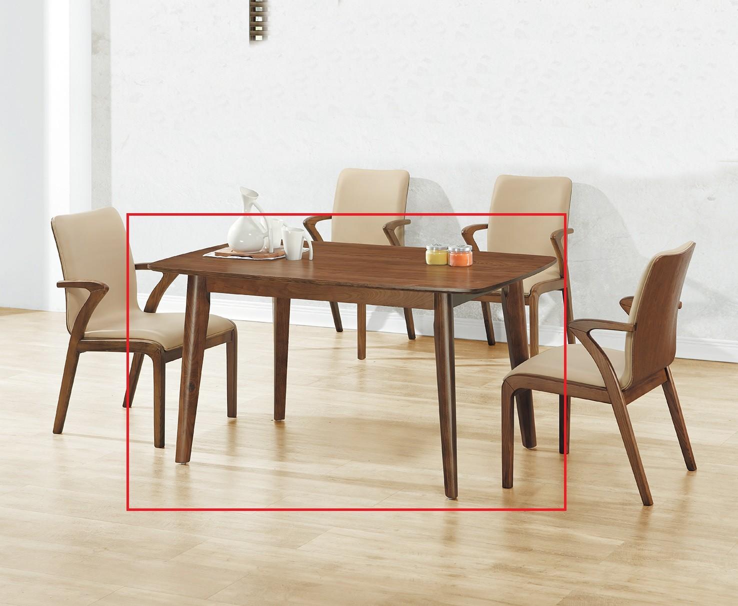 (A73)4.6尺實木餐桌
