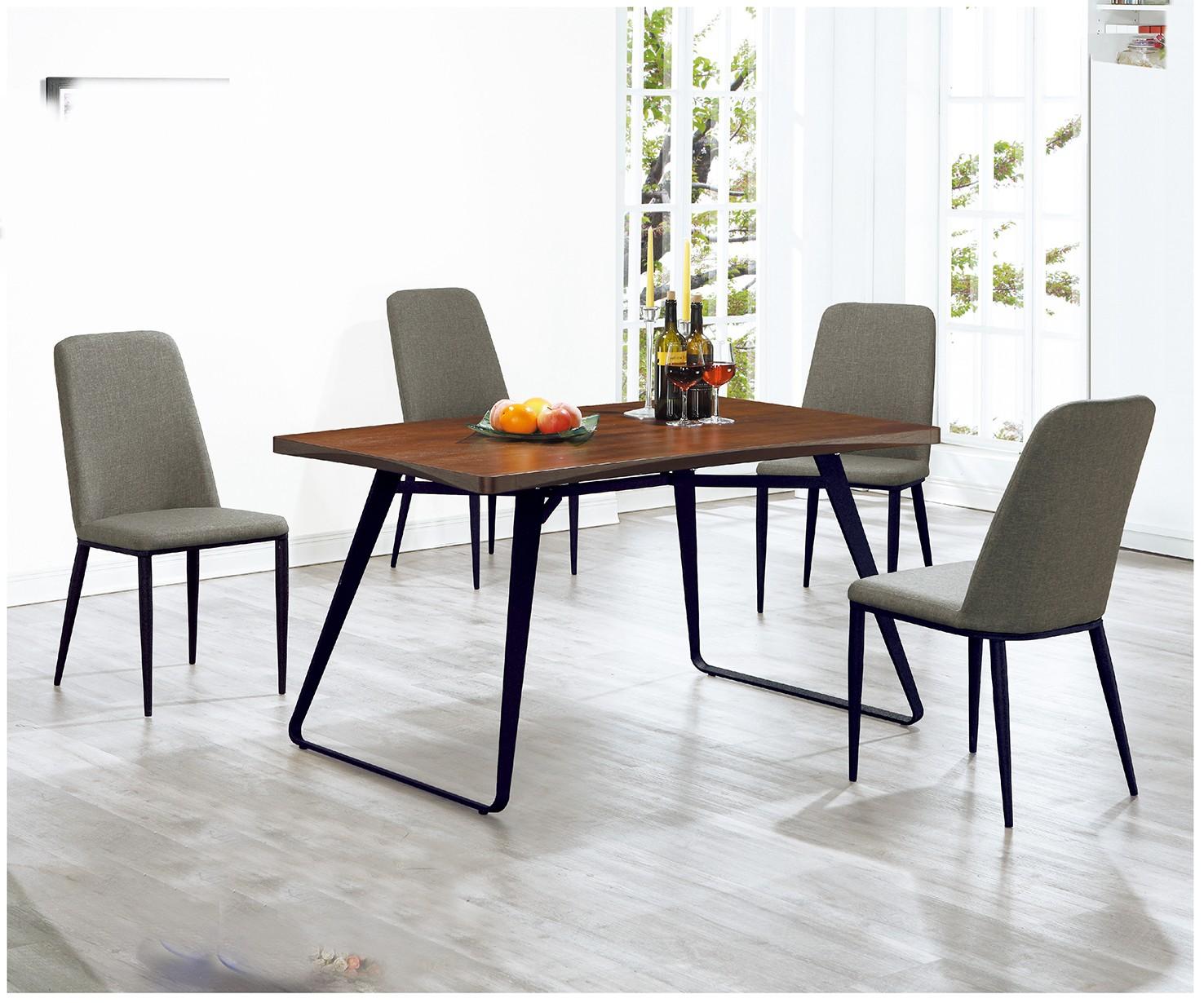 (A68)4.3尺餐桌椅(1桌4椅)