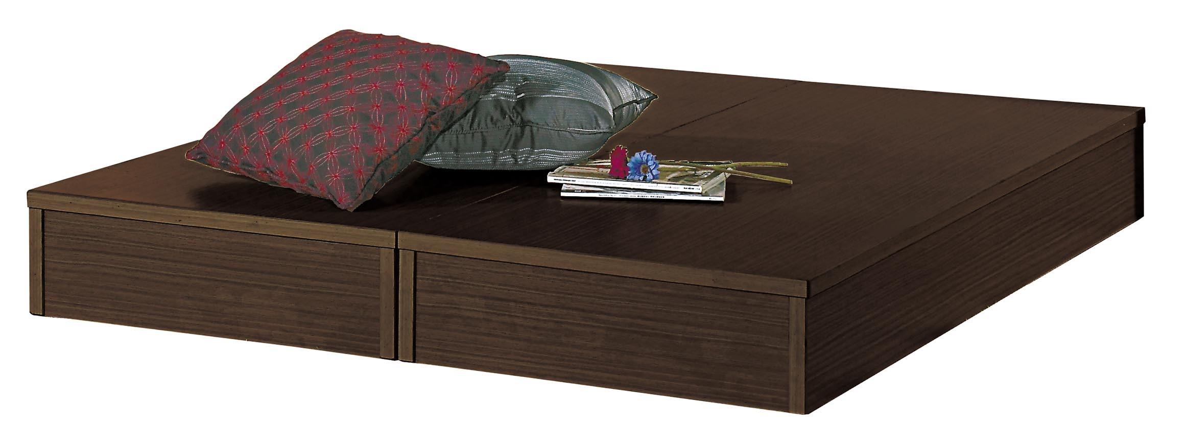 6尺胡桃色六分板床底