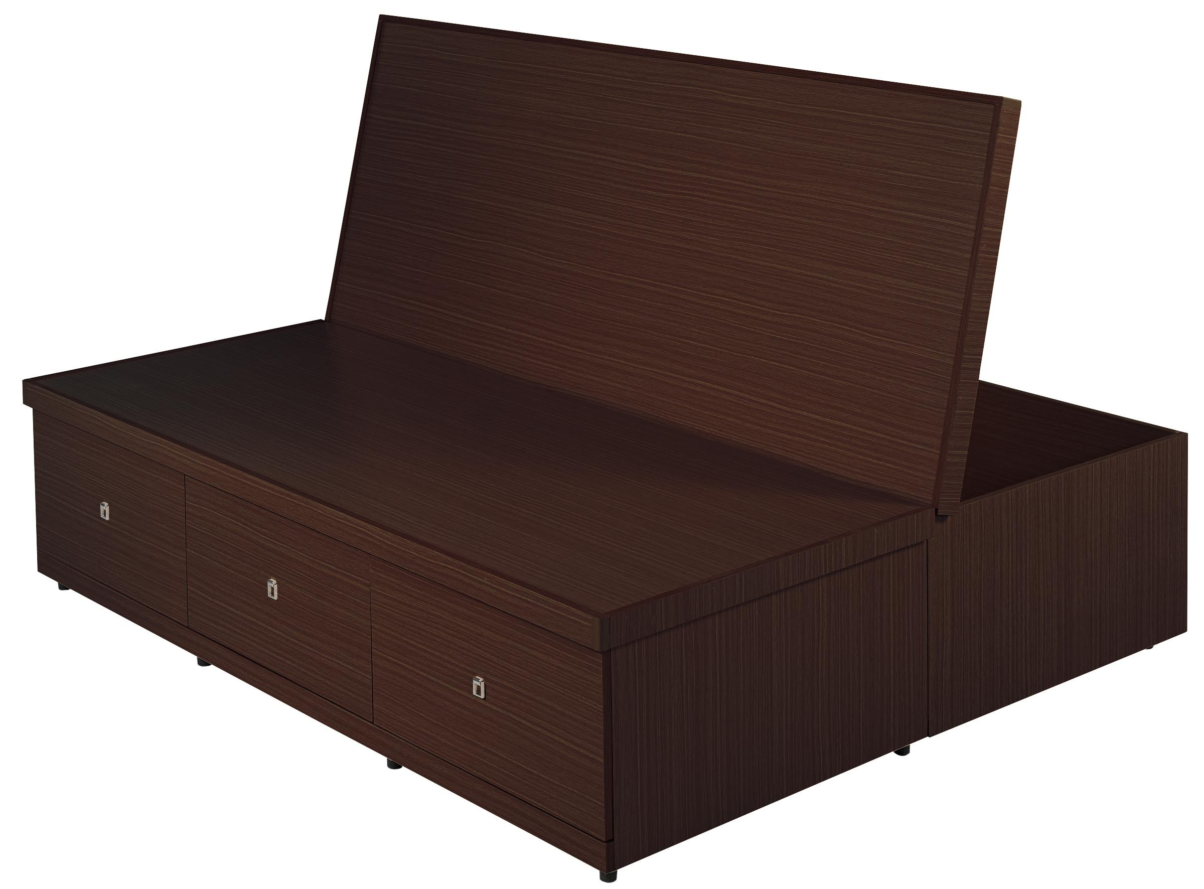 6尺置物功能床底(胡桃色)