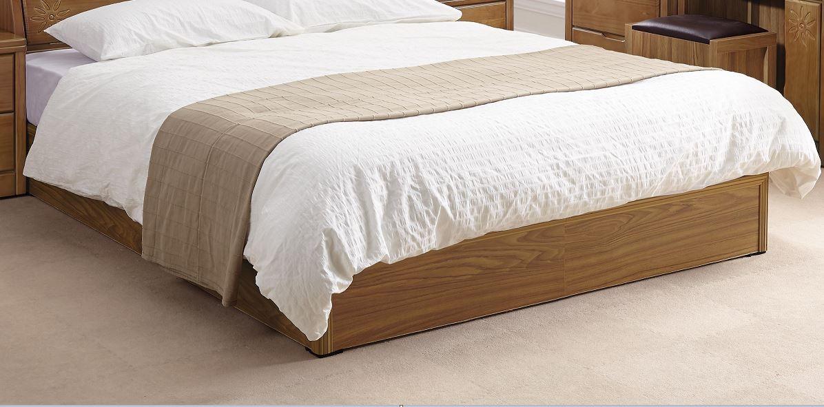 5尺柚木色六分板床底