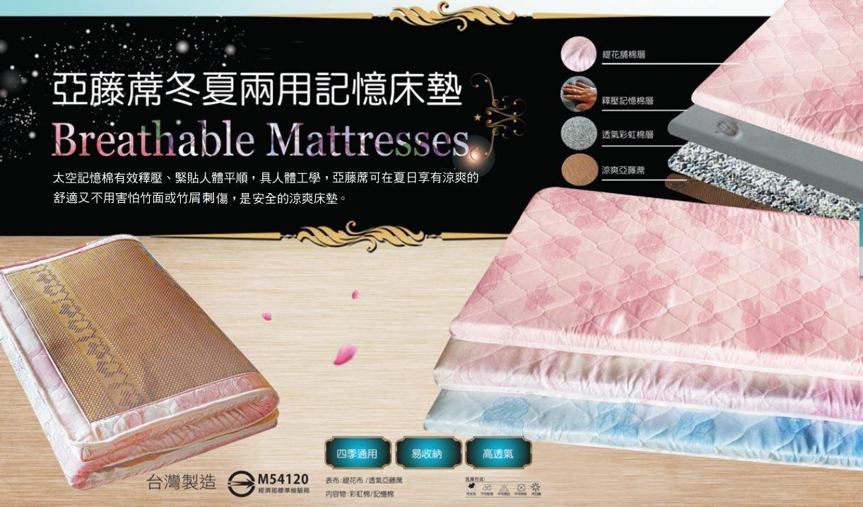 2英吋矽膠聚合床墊3.5尺