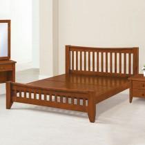 1867型瑪吉5尺實木雙人床