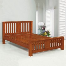 1876型6尺實木雙人床