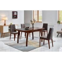 奧麗莉4尺實木拉合餐桌(不含椅)