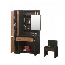 艾曼積層色4尺鏡台/化妝台(含椅)