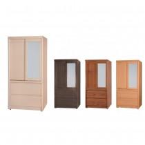 簡單型3X6尺推門衣櫥/衣櫃(共四色)