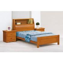 伊琳諾3.5尺實木樟木色百葉書架床(不含床頭櫃)