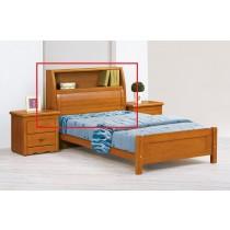 伊琳諾3.5尺實木樟木色百葉書架床頭箱