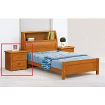 伊琳諾實木樟木色床頭櫃(單只)