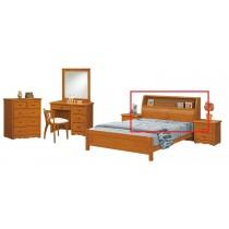 伊琳諾5尺實木樟木色床頭箱
