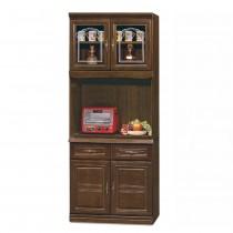 966型胡桃色2.7尺餐櫃/碗盤櫃(全組)
