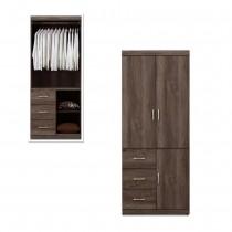凱爾 2.7 X 7尺灰橡色衣櫥/衣櫃