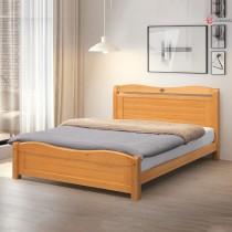 莉莎5尺實木雙人床