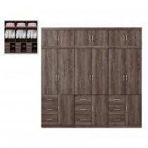 凱爾 8 X 8尺灰橡色衣櫥/衣櫃