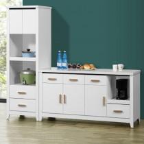 伊爾7尺L型餐櫃/碗盤櫃(全組)(共兩色)