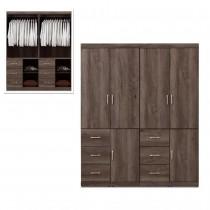 凱爾 5.4 X 7尺灰橡色衣櫥/衣櫃