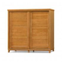 布洛林樟木色實木7X7尺衣櫥/衣櫃(含內鏡)