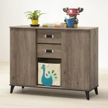 莫可灰橡色4尺置物收納櫃