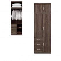 凱爾 2.7 X 8尺灰橡色衣櫥/衣櫃