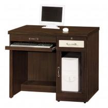 777型3.2尺胡桃色電腦桌