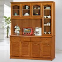 967型樟木色5.3尺餐櫃/碗盤櫃(全組)