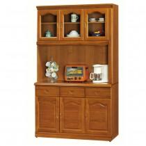 967型樟木色4尺餐櫃/碗盤櫃(全組)
