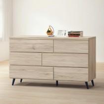 寶雅橡木色4.6尺六斗櫃