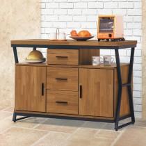 工業風木心板4尺餐櫃/碗盤櫃(223)