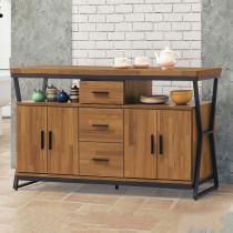 工業風木心板5尺餐櫃/碗盤櫃(224)