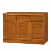 967型樟木色4尺餐櫃/碗盤櫃(下座)