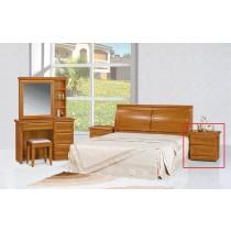 實木樟木色床頭櫃(單只)