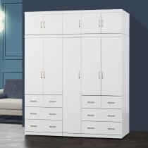 阿諾德 7 X 8尺白色衣櫥/衣櫃