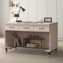 4515型鋼刷白4尺三抽書桌下座