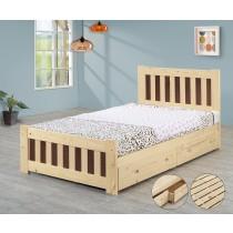 3.5尺雙色床(含抽屜)(實木板)