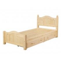 芬蘭3.5尺抽屜床(實木板)(四抽屜)