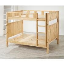 瑞拉多功能可拆式紐松絲實木雙層床(C08)