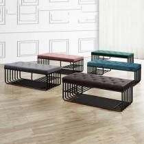 F10瓦特黑色沙發長凳/坐鞋椅(單只)