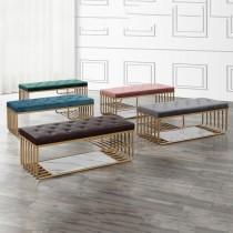 F10瓦特金色沙發長凳/坐鞋椅(單只)
