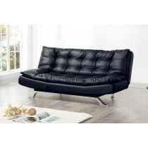 3009B黑皮沙發床