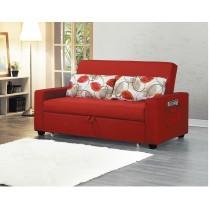 942紅色沙發床布