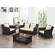 A235籐椅沙發組(1+1+2+茶几)
